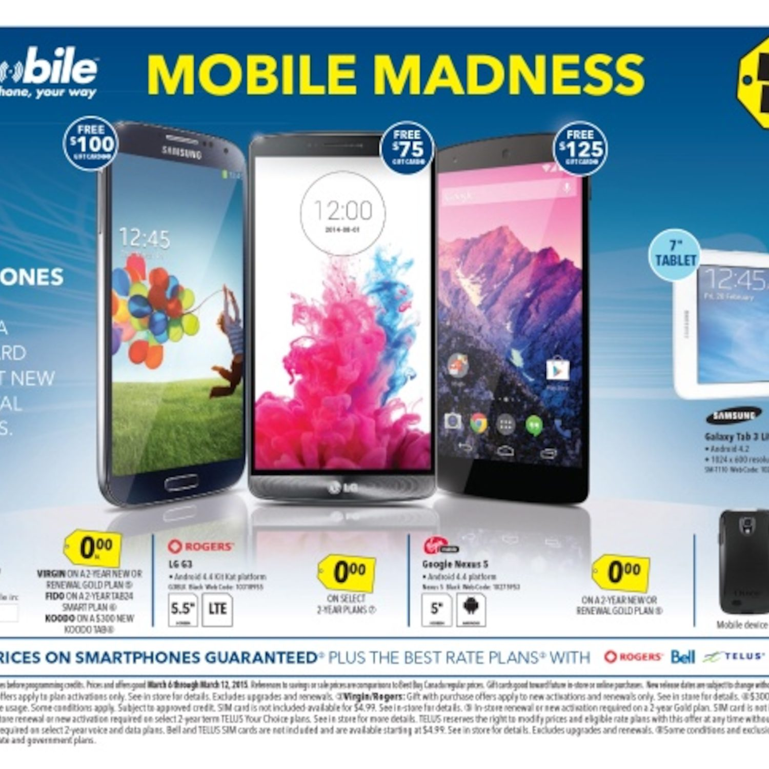 Best Buy Weekly Flyer - Weekly - Mobile Madness - Mar 6 – 12