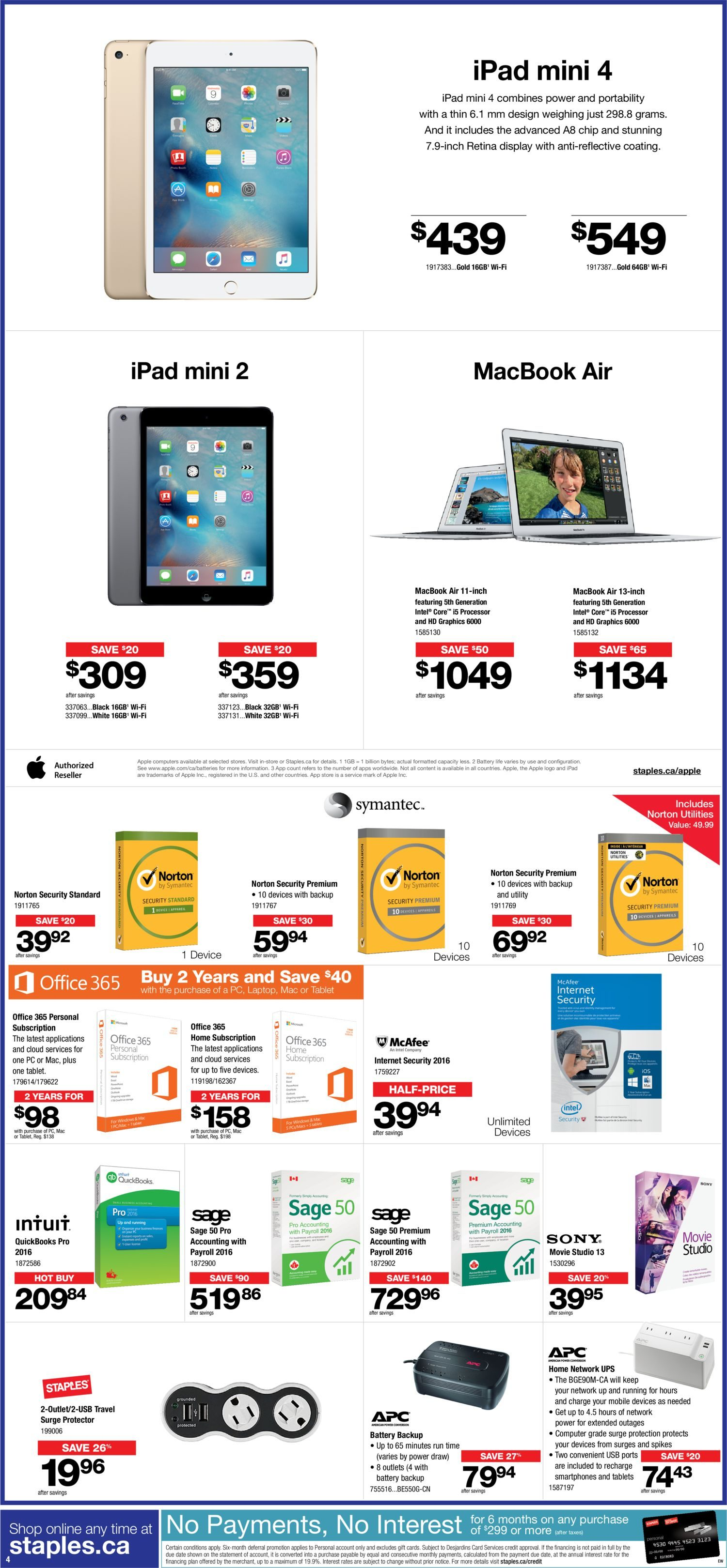 Staples Weekly Flyer - 2 Week Sale - Big Chair Event - Oct