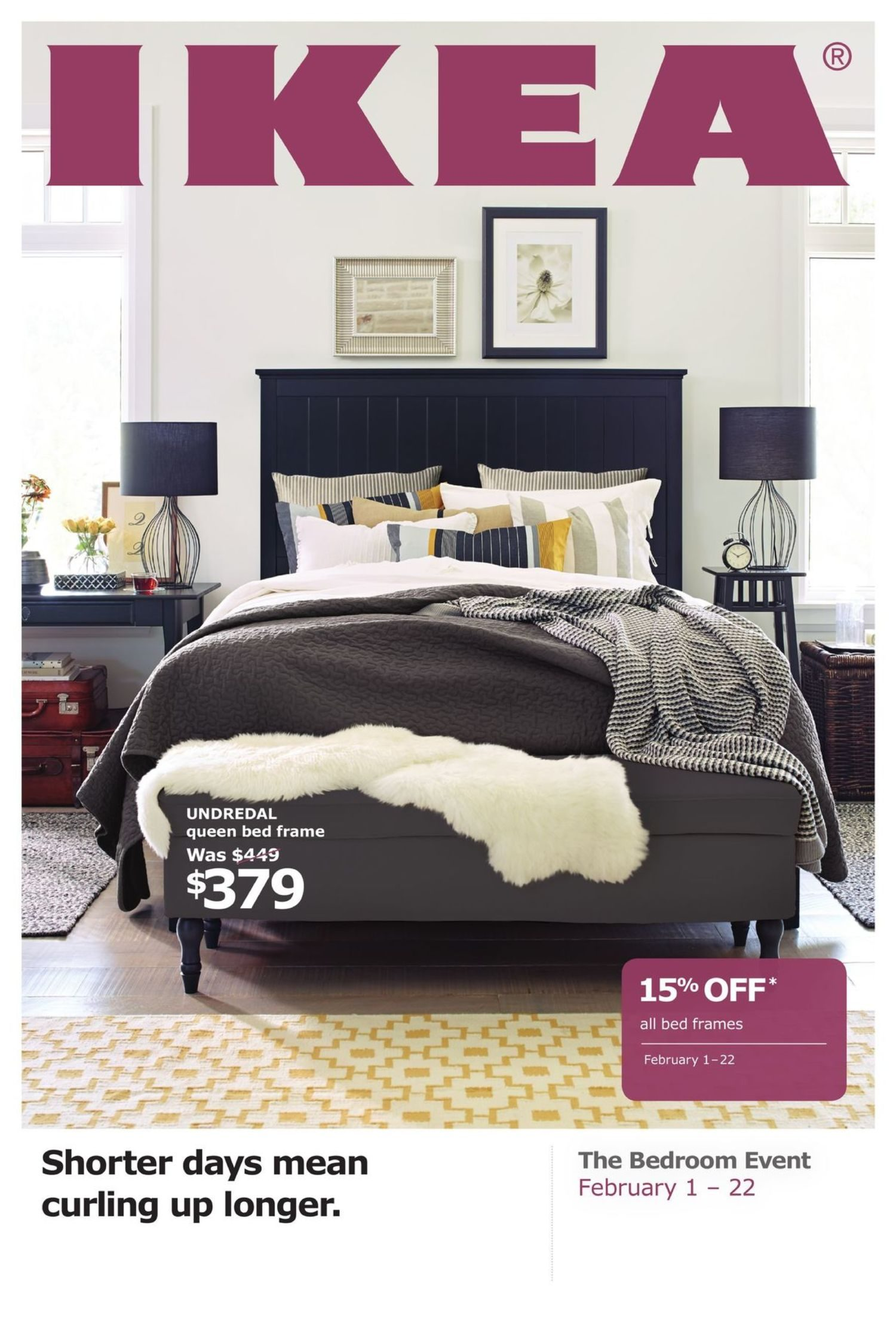 IKEA Weekly Flyer - The Bedroom Event - Shorter Days Mean Curling