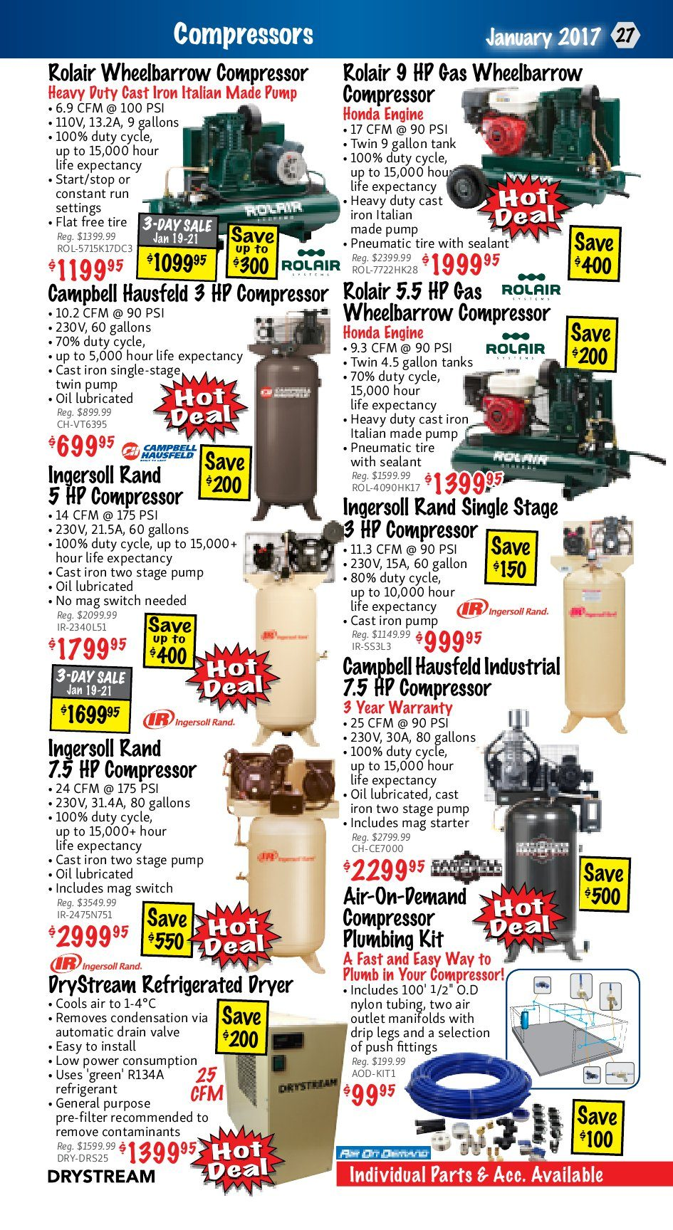 Kms Tools Weekly Flyer January Clearance Hot Deals Sale Jan 1 Need Plug Hook Up Diagram For 220 Ingersoll Rand 2475n75 Type 30 31