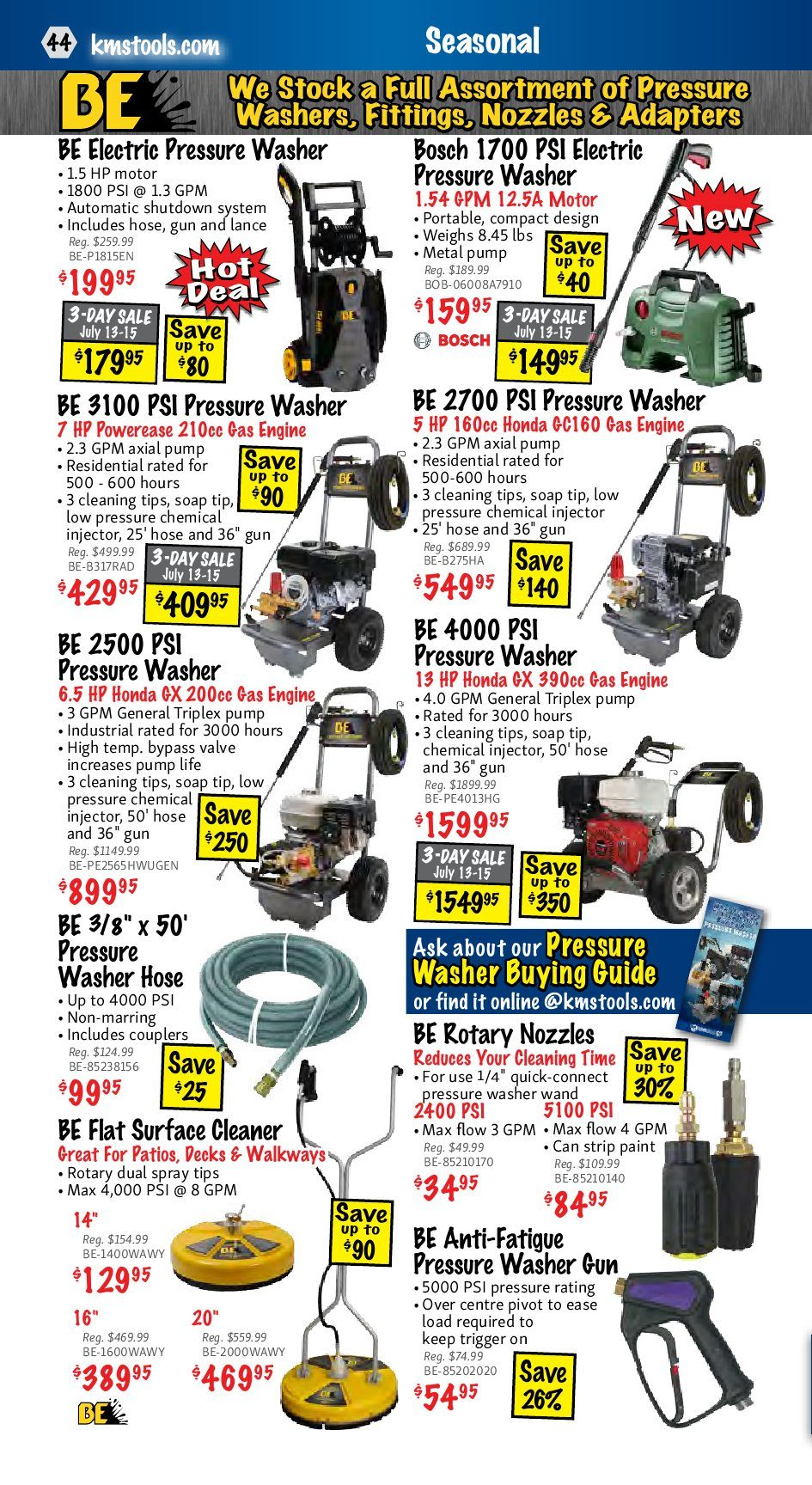Kms Tools Weekly Flyer Power Tool Sale Jul 1 31 Use Toggle Switch 20amp Back And Side Wired Singlepole 81200 W