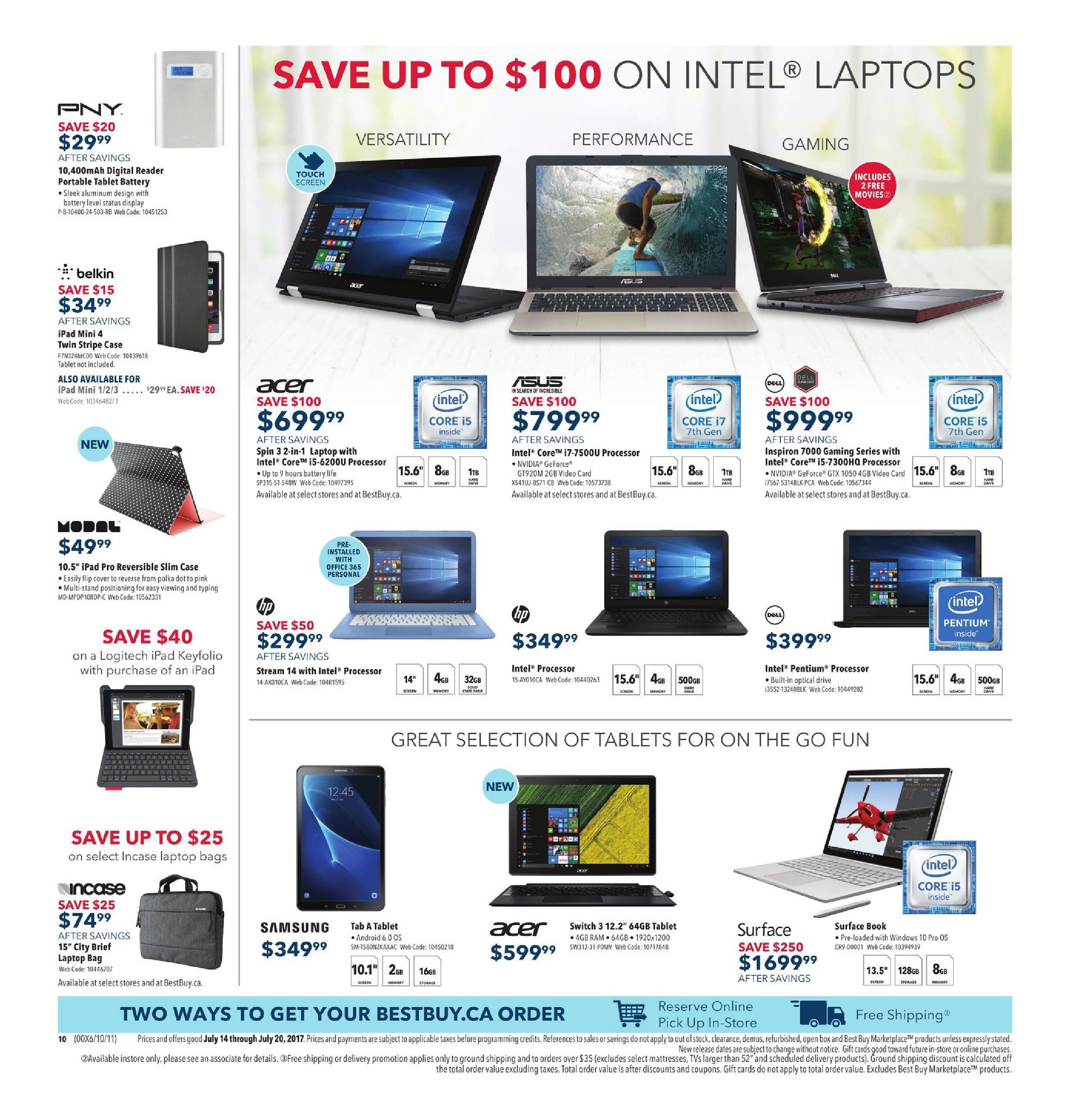 Best Buy Weekly Flyer - Weekly - Hot Deals On The Coolest