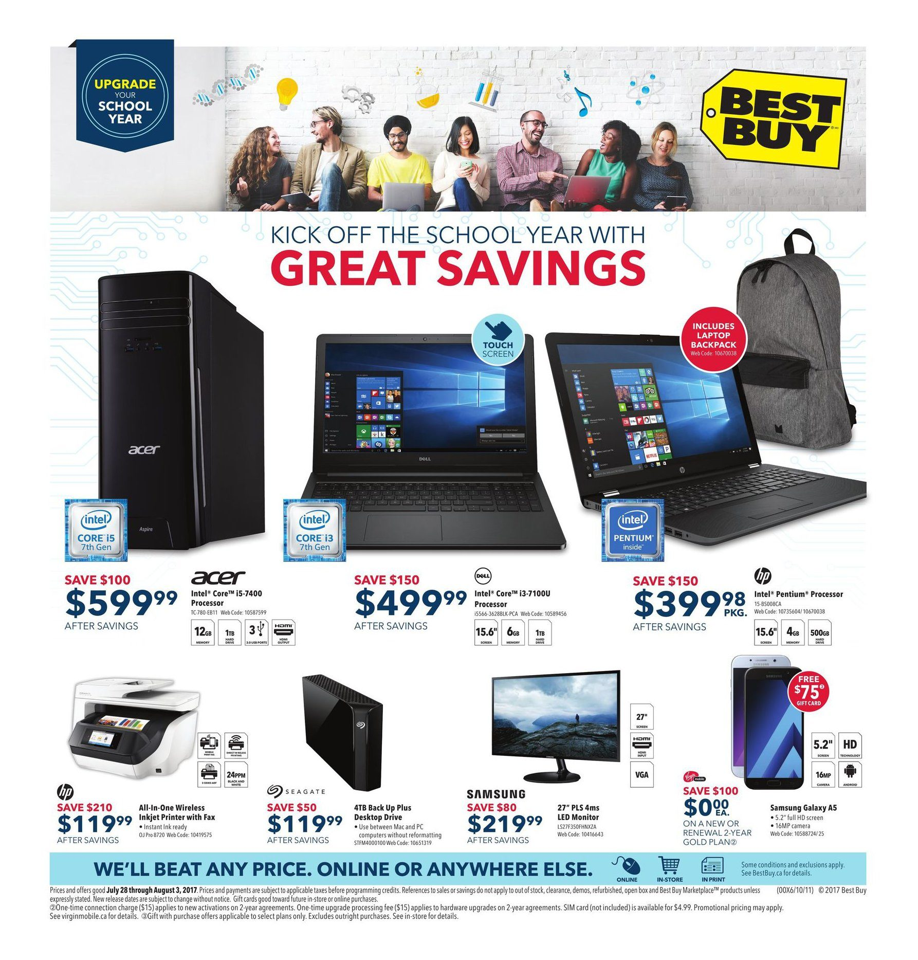 ca829d0e03ae8 Best Buy Weekly Flyer - Weekly - Kick Off The School Year with Great  Savings - Jul 28 – Aug 3 - RedFlagDeals.com