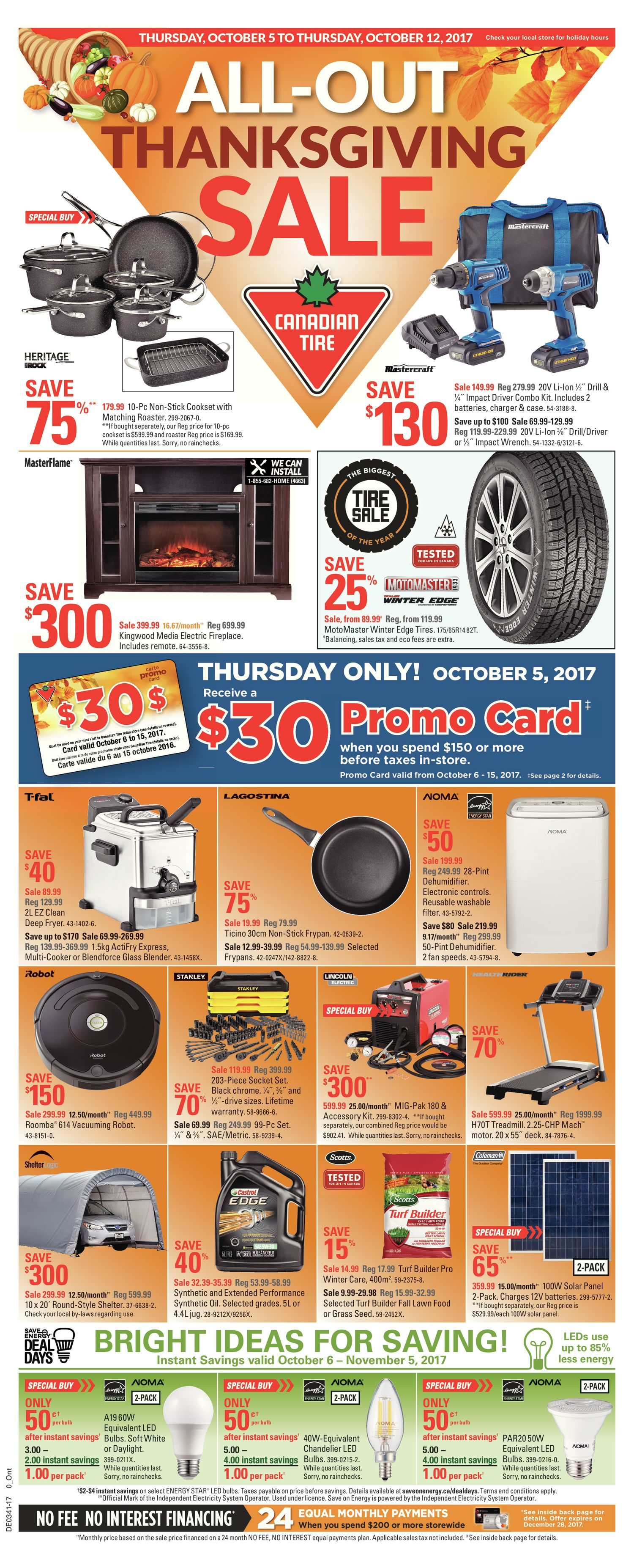 canadian tire weekly flyer weekly all out thanksgiving sale