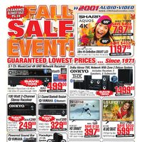 2001 Audio Video - Weekly - Fall Sale Event! Flyer