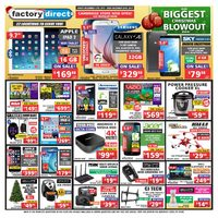 Factory Direct - Weekly - Our Biggest Christmas Blowout Ever! Flyer