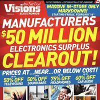 Visions Electronics - Ontario Only - $50 Million Clearout! Flyer