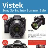 Vistek - Sony Spring Into Summer Sale Flyer