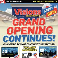 Visions Electronics - Grand Opening Continues! Flyer
