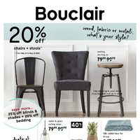 Bouclair - Wood, Fabric, or Metal: What's Your Style? Flyer
