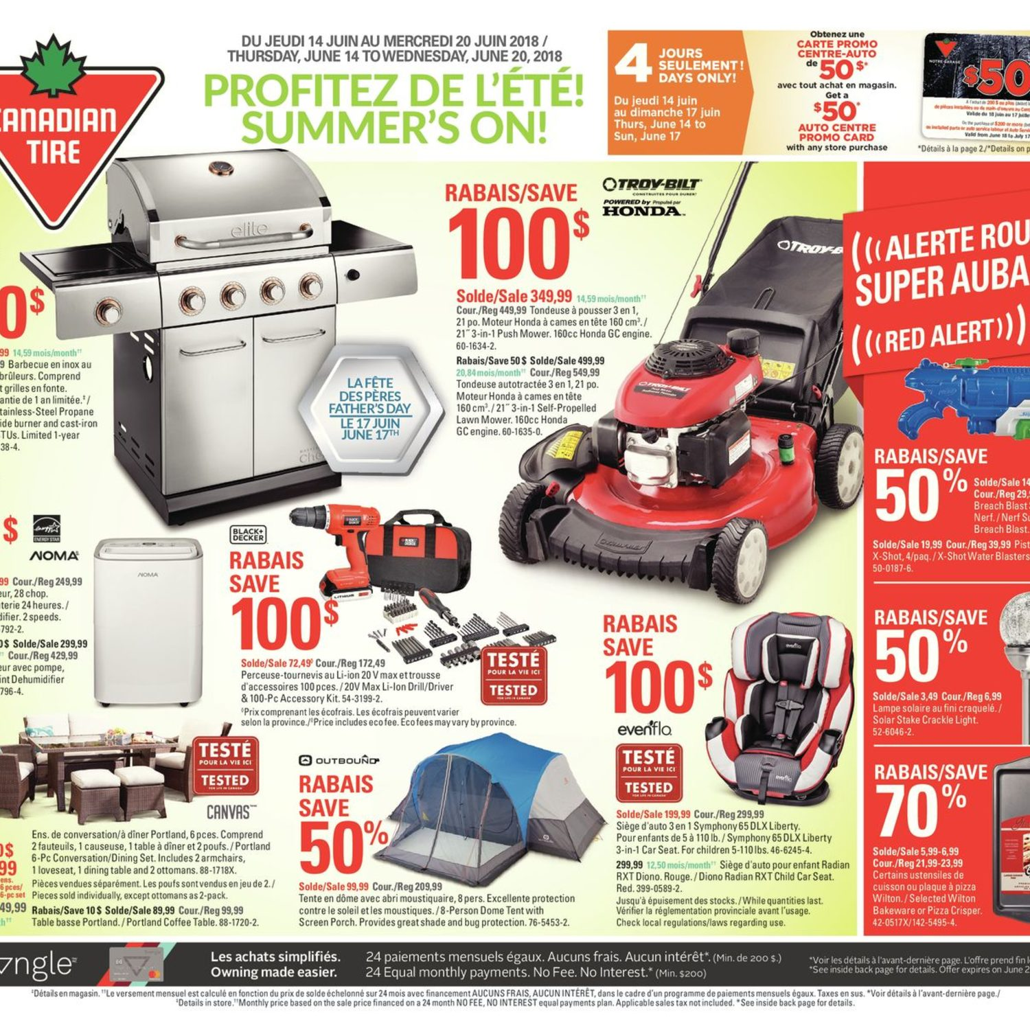 Canadian Tire Weekly Flyer Summers On Jun 14 20 Us Blaster Products Car Audio Wiring Kits Usb 6128