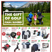 Golf Town - The Gift of Golf Flyer