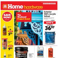 Home Hardware - Weekly - The Weekend Project Event Flyer