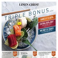 Linen Chest - Triple Bonus Event Flyer