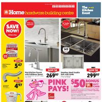 Home Hardware - Building Centre - The Kitchen Event Flyer