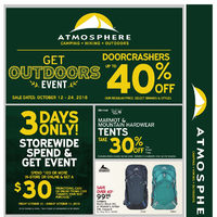 Atmosphere - 2 Weeks of Savings - Get Outdoors Event Flyer