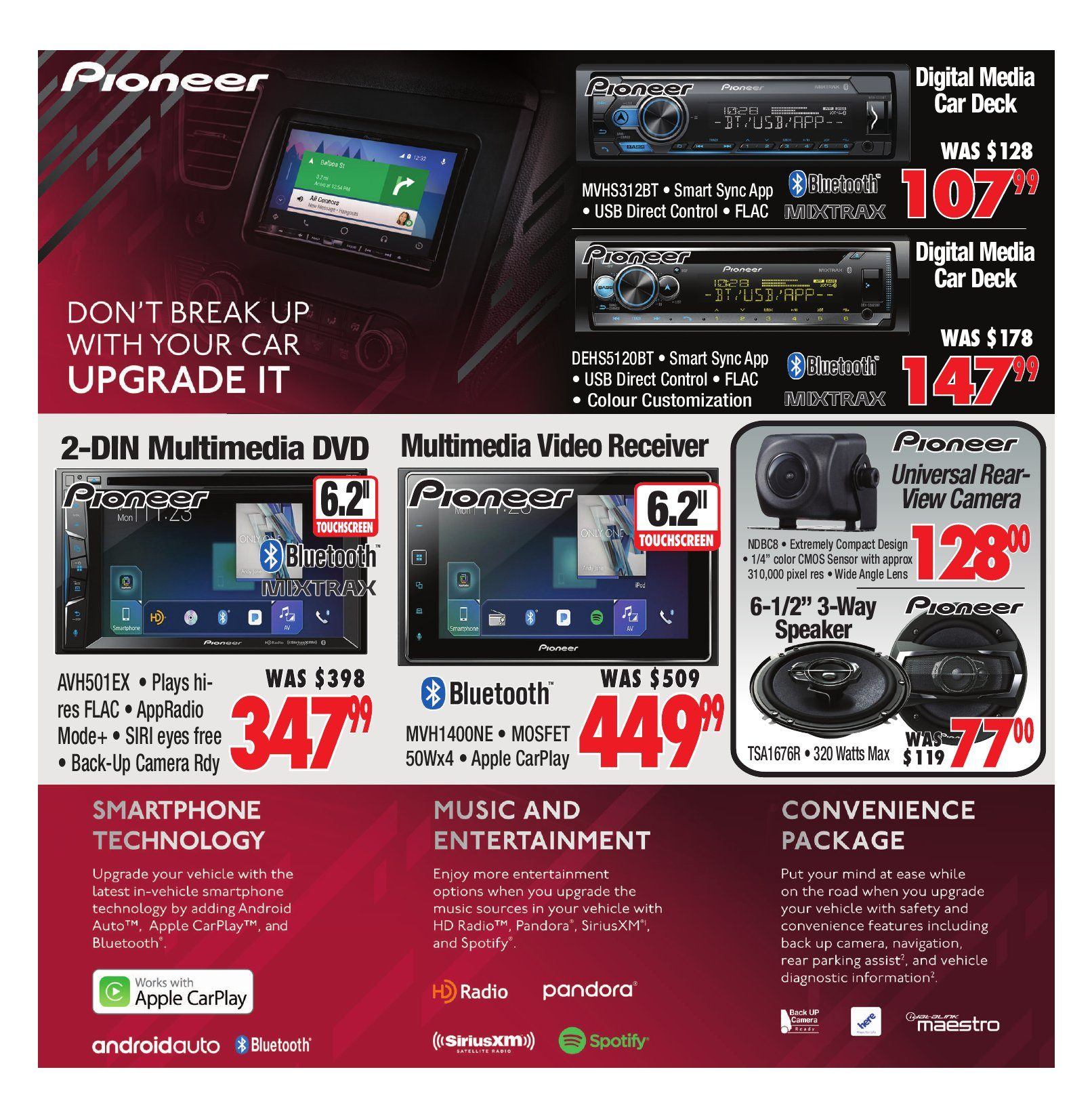 2001 Audio Video Weekly Flyer No Tax Event Nov 2 8 Pioneer Mosfet 50wx4 Power Ac Or Dc
