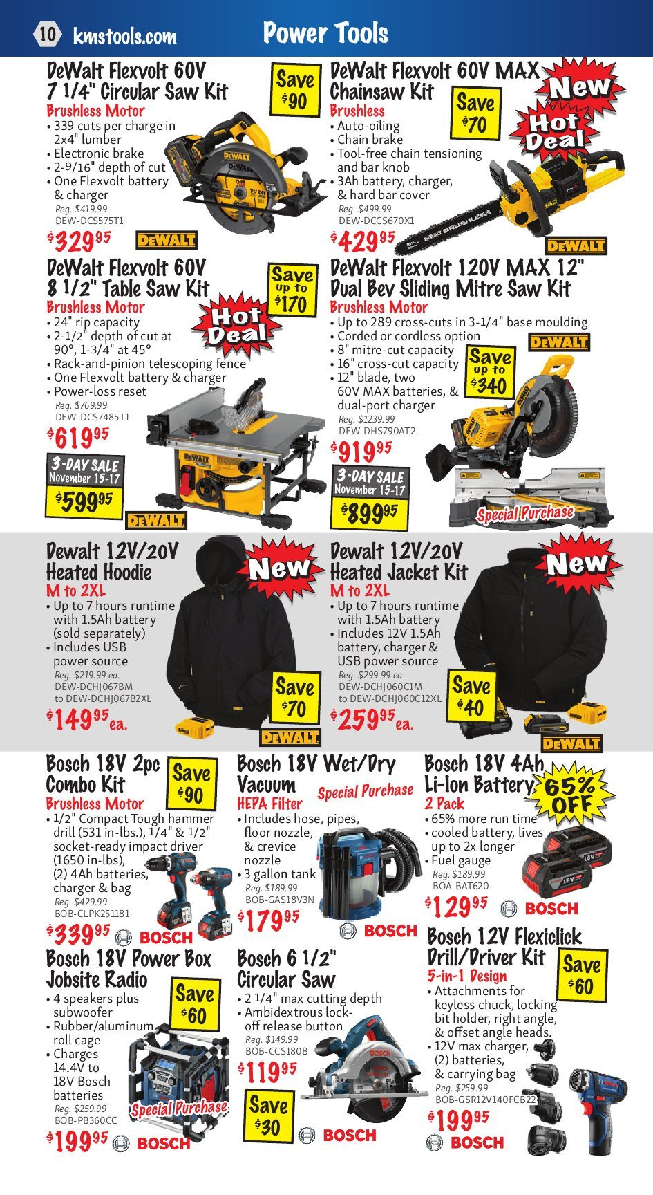 Kms Tools Weekly Flyer Club Month Sale Nov 1 30 Wiring 80300 Electrical Connectors Headlight Plug 3wire Pair