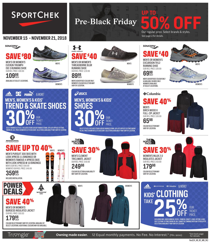 694367fd04f5 Sport Chek Weekly Flyer - Pre-Black Friday Sale - Nov 15 – 21 ...