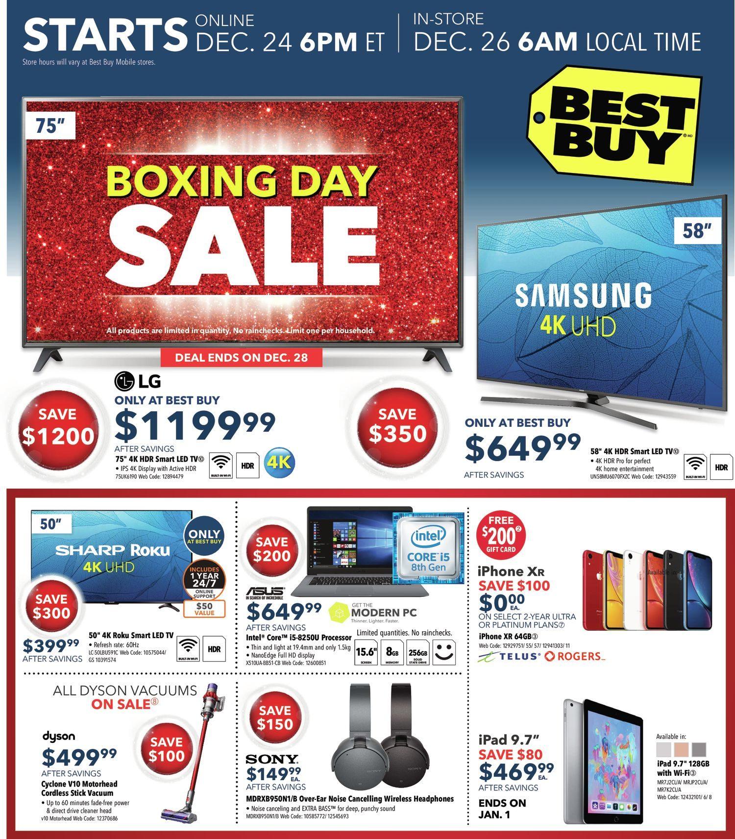 82e89aac602 Best Buy Weekly Flyer - Boxing Day Sale - Dec 25 – Jan 3 - RedFlagDeals.com
