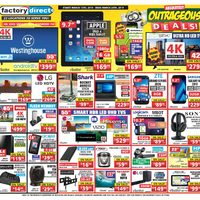Factory Direct - Absolutely Outrageous Deals! Flyer