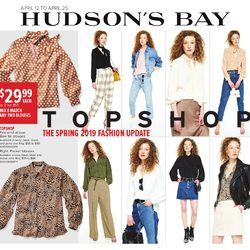 The Bay - Topshop - The Spring 2019 Fashion Update Flyer