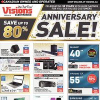 Visions Electronics - Weekly - Anniversary Sale! Flyer