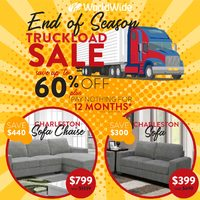Worldwide Furniture - End of Season Truckload Sale Flyer