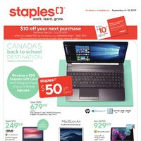 Staples Flyer: Microsoft Surface Pro 6 $930 + FREE $50 Gift