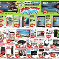 Factory Direct - Ginormous Savings Event! Flyer