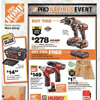 Home Depot - Weekly - Pro Savings Event Flyer