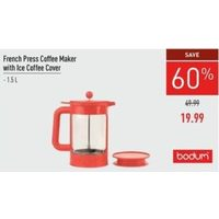 Bodum French Press Coffee Maker With Ice Coffee Cover
