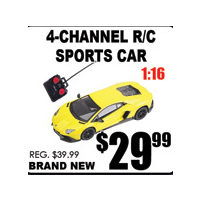 4-Channel R/C Sports Car