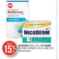Nicoderm Patch,Life Brand Nicotine Lozenges or Gum