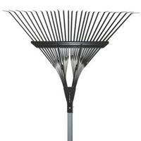 "Heavy Duty Deluxe 30"" Steel Leaf Rake With Grip Handle"