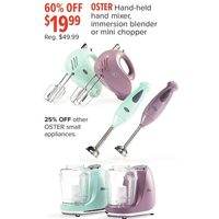 Oster Hand-Held Hand Mixer, Immersion Blender Or Mini Chopper