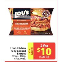 Lou's Kitchen Fully Cooked Entrees