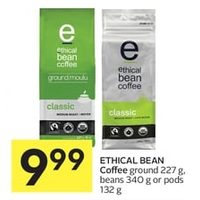 Ethical Bean Coffee Ground, Beans Or Pods