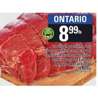 Top Sirloin Premium Oven Roast Grilling Steak Cap-Off