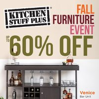 Kitchen Stuff Plus - Fall Furniture Event Flyer