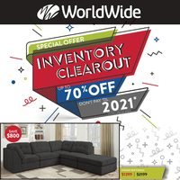 Worldwide Furniture - Inventory Clearout Sale Flyer
