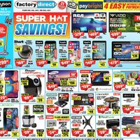 Factory Direct - Super Hot Savings! Flyer