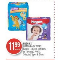 Huggies Jumbo Baby Wipes, Diapers Or Training Pants