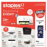 Staples - Weekly - Big Printing Event Flyer