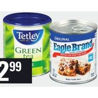 Eagle Brand Condensed Milk or Tetley Specialty Tea