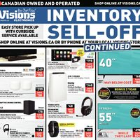 Visions Electronics - Weekly - Inventory Sell-off Continued Flyer