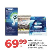 Oral-B Power Toothbrushes Or Crest Whitestrips