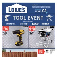Lowe's - Weekly - Tool Event Flyer