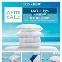 Linen Chest - White Sale Flyer