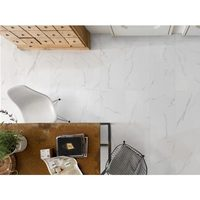 "12"" x 24"" Rectified Porcelain Floor And Wall Tiles - Polished Carrara White Porcelain"